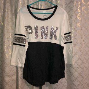 PINK Sequin 3/4 Sleeve